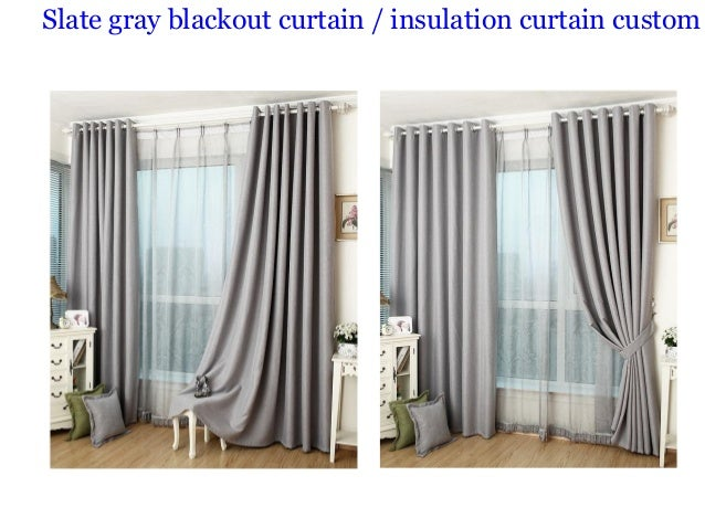 ... 3. Slate Gray Blackout Curtain / Insulation Curtain Custom ...