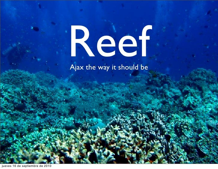 Reef                                   Ajax the way it should be     jueves 16 de septiembre de 2010