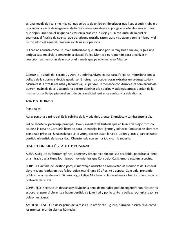 Resumen de aura by Carlos fuentes