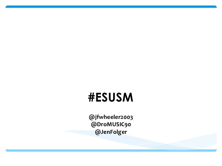 Best Practices: Small Business & Social Media          #ESUSM          @jfwheeler2003          @DroMUSIC90           @JenF...
