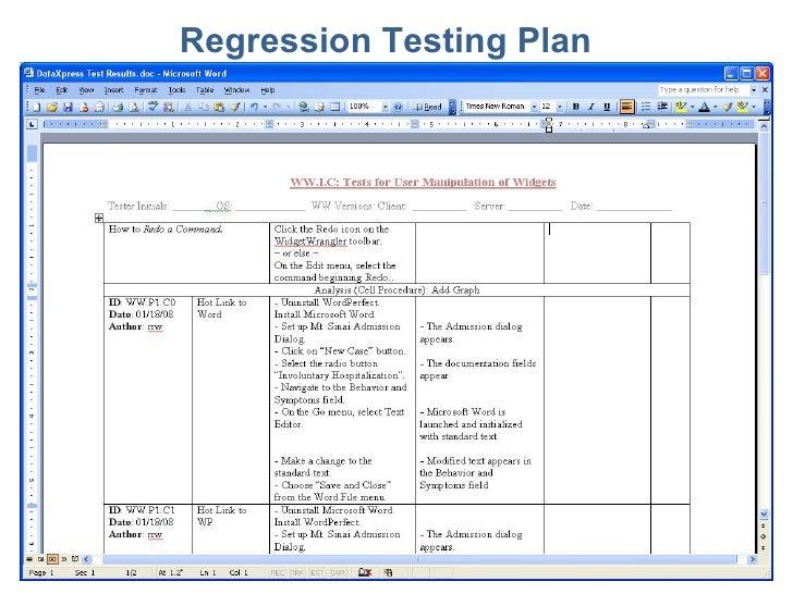 Essential Software, Inc. Regression Testing
