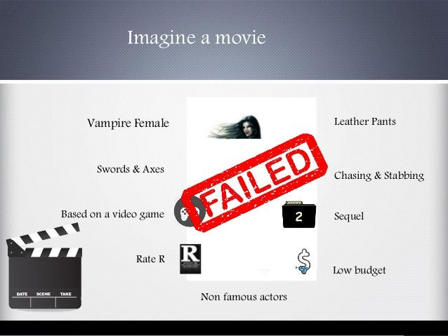 Imagine a movie Vampire Female Swords & Axes Leather Pants Chasing & Stabbing Based on a video game Sequel Non famous acto...
