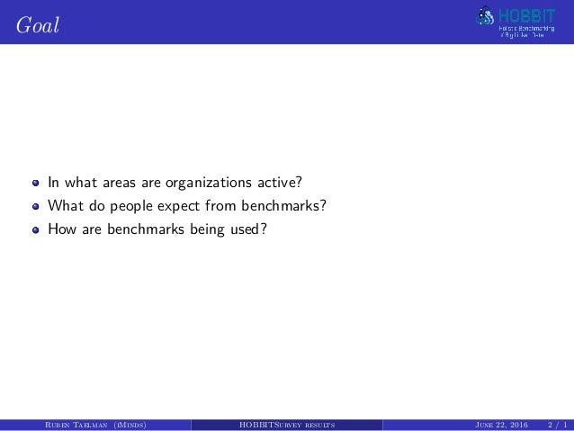 HOBBIT Survey results Slide 2