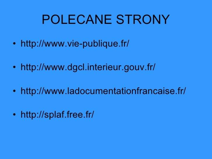europejskie systemy w adzy lokalnej francja