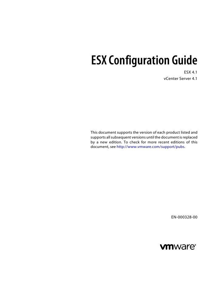 ESX Configuration Guide                                                     ESX 4.1                                       ...