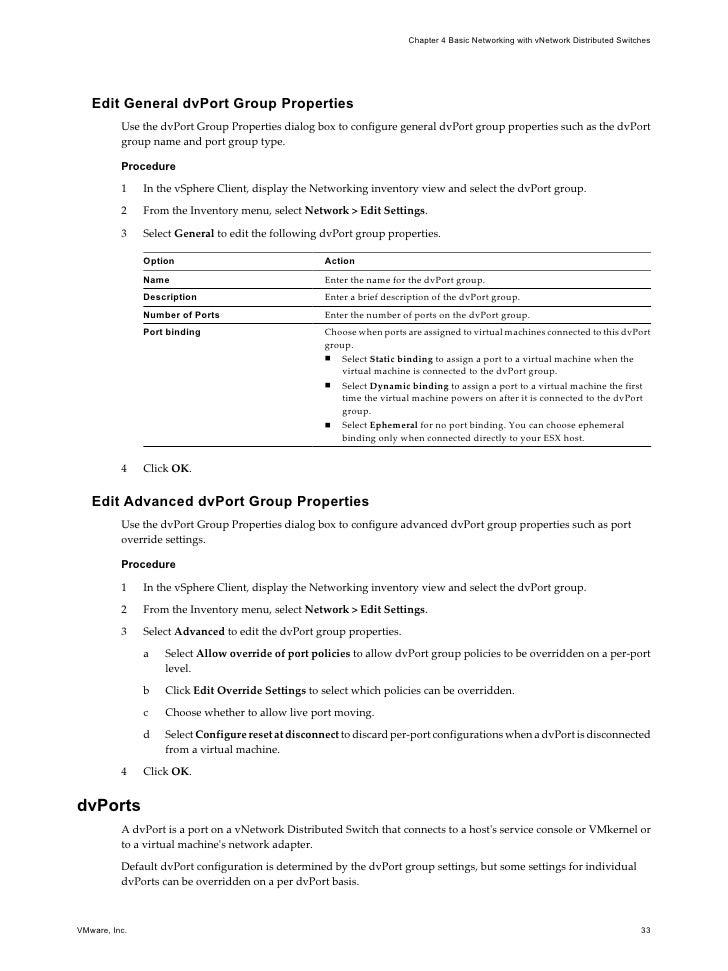 Esx configuration guide