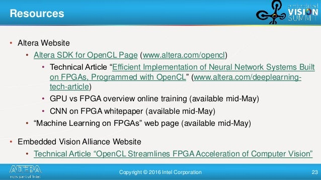 Accelerating Deep Learning Using Altera FPGAs,