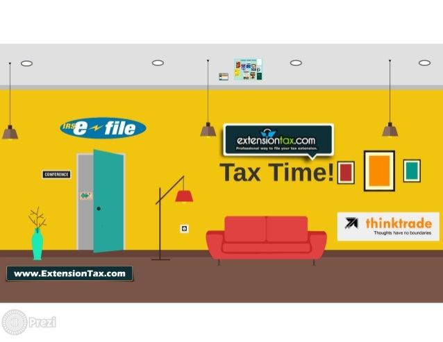 Form 7004 Extension Tax Return Online Slide 2