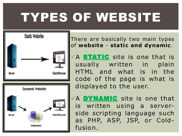 difference between static website and dynamic website pdf
