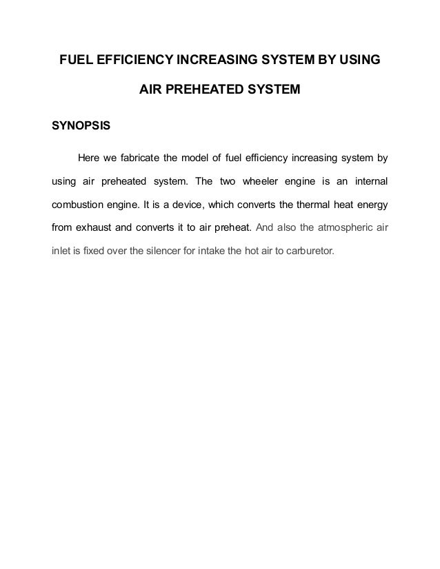 Et0094 fuel efficiency increasing system by using air preheated sys…