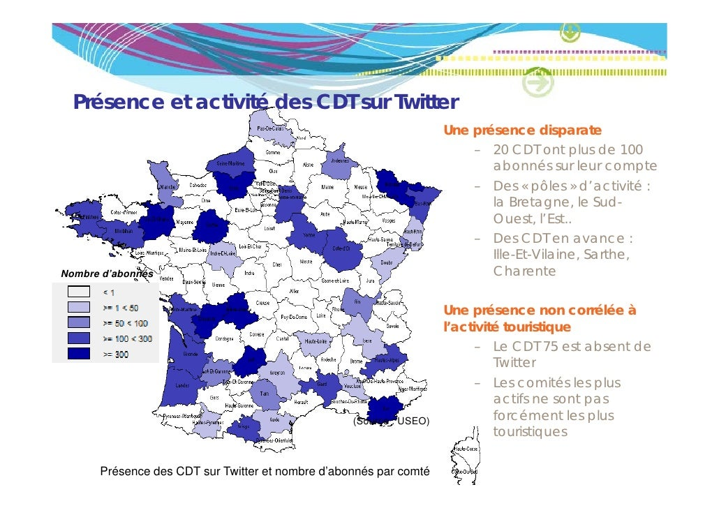 Présence et activité des CDT sur Twitter                                                                    Une présence d...