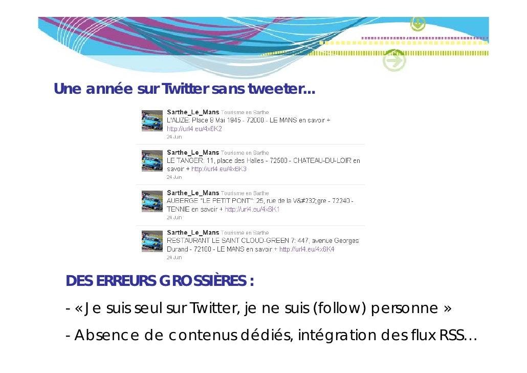 Une année sur Twitter sans tweeter... DES ERREURS GROSSIÈRES : - « Je su s seu su Twitter, je ne su s ( o o ) personne »  ...