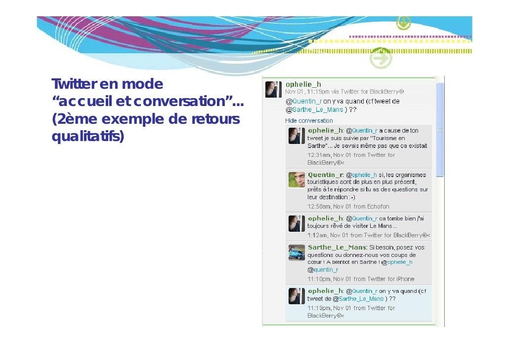 """Twitter en mode""""accueil et conversation""""...""""        il t       ti """"(2ème exemple de retoursqualitatifs)"""