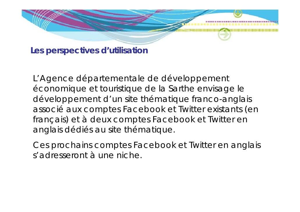 Les perspectives d'utilisationL'Agence départementale de développement   g          p                       ppéconomique e...