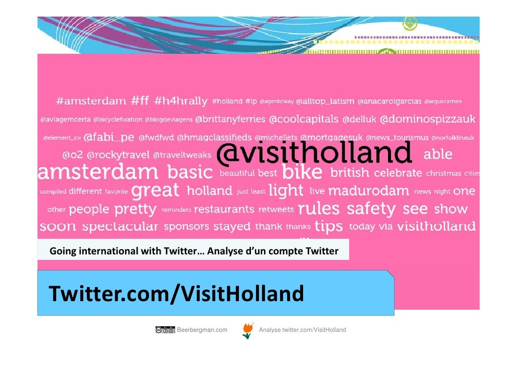 GoinginternationalwithTwitter…Analysed'uncompteTwitterTwitter.com/VisitHolland                          Beerbergman...