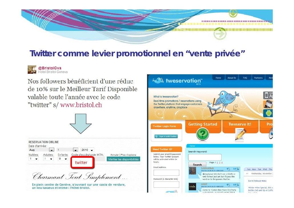 """Twitter comme levier promotionnel en """"vente p                     p                      privée"""""""