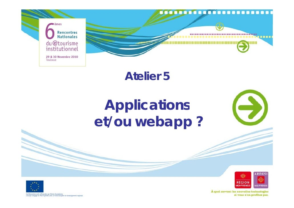Atelier 5 Applicationset/ou webapp ?  /        pp