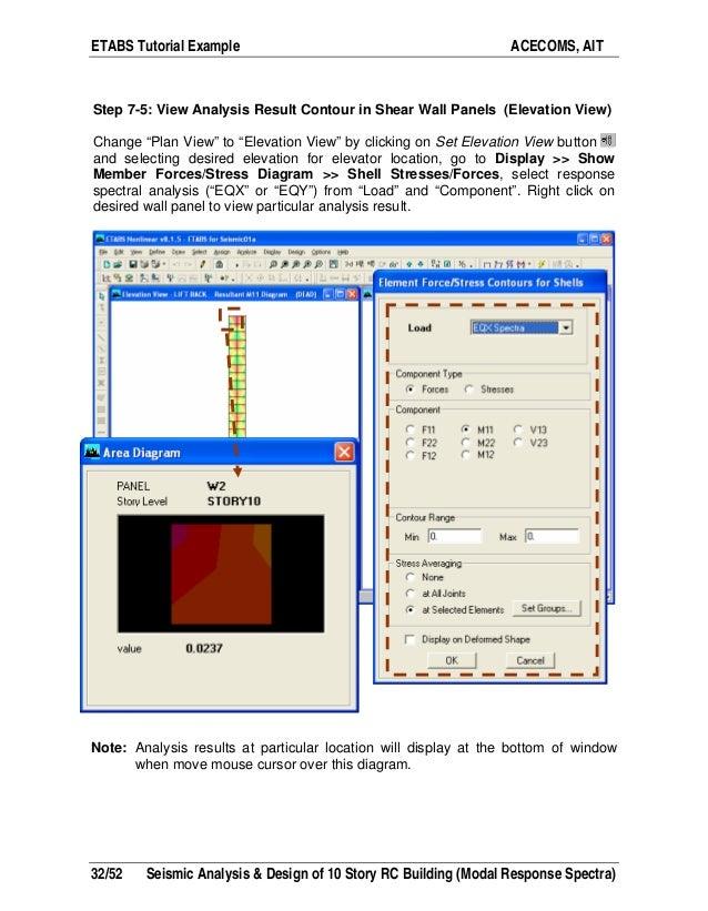 Etabs example-rc building seismic load response-