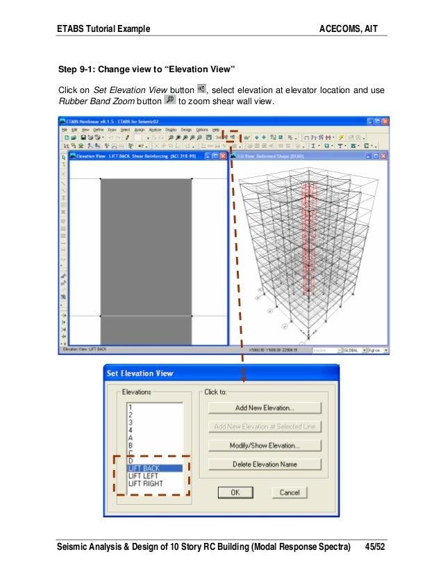 Etabs Building Design Seismic