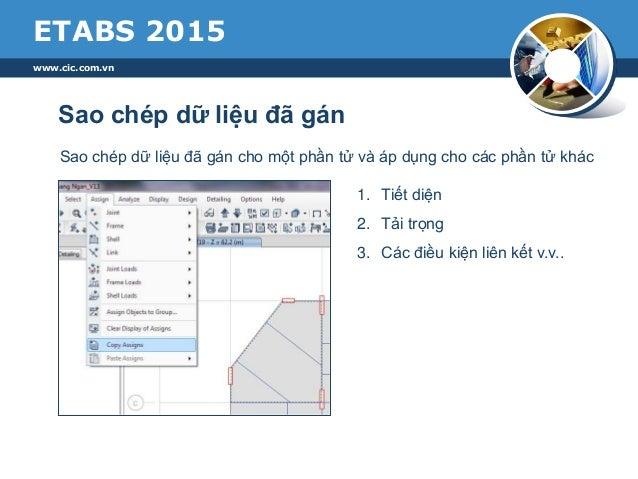 Etabs 2015 - Những tính năng mới nổi bật