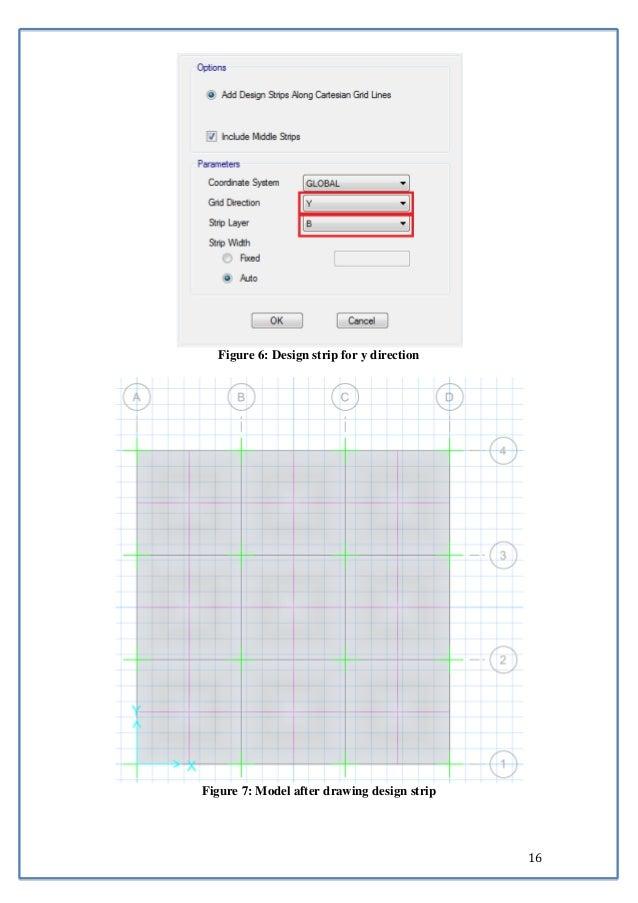 16  Figure 6: Design strip for y direction  Figure 7: Model after drawing design strip