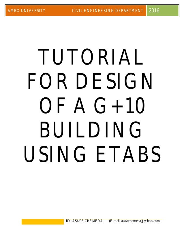 Etabs tutorial