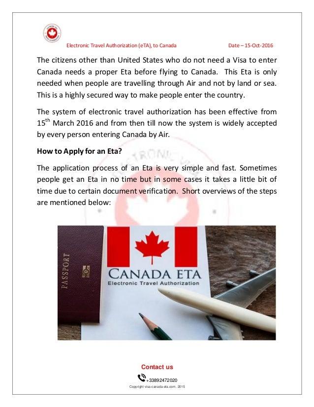 ETA visum voor Canada