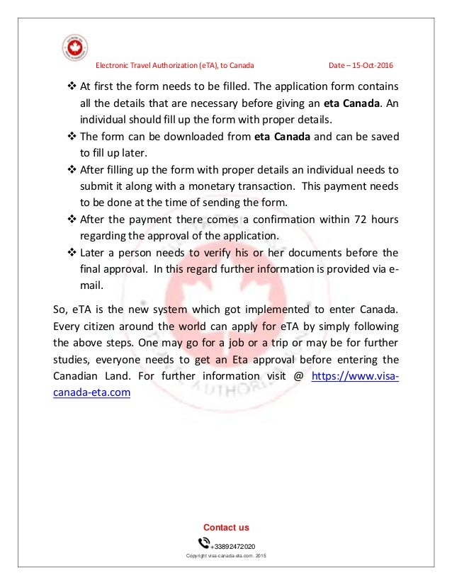 Apply For Travel Visa To Canada