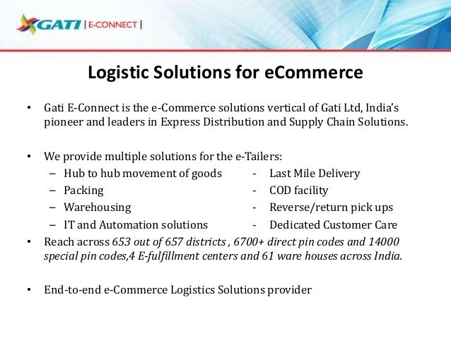 ecommerce and logistics E-commerce has rapidly become the purchase channel of choice for many b2b and b2c transactions find out how logistics solutions have made this possible.