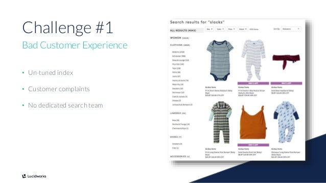 5 Challenge #1 Bad Customer Experience • Un-tuned index • Customer complaints • No dedicated search team
