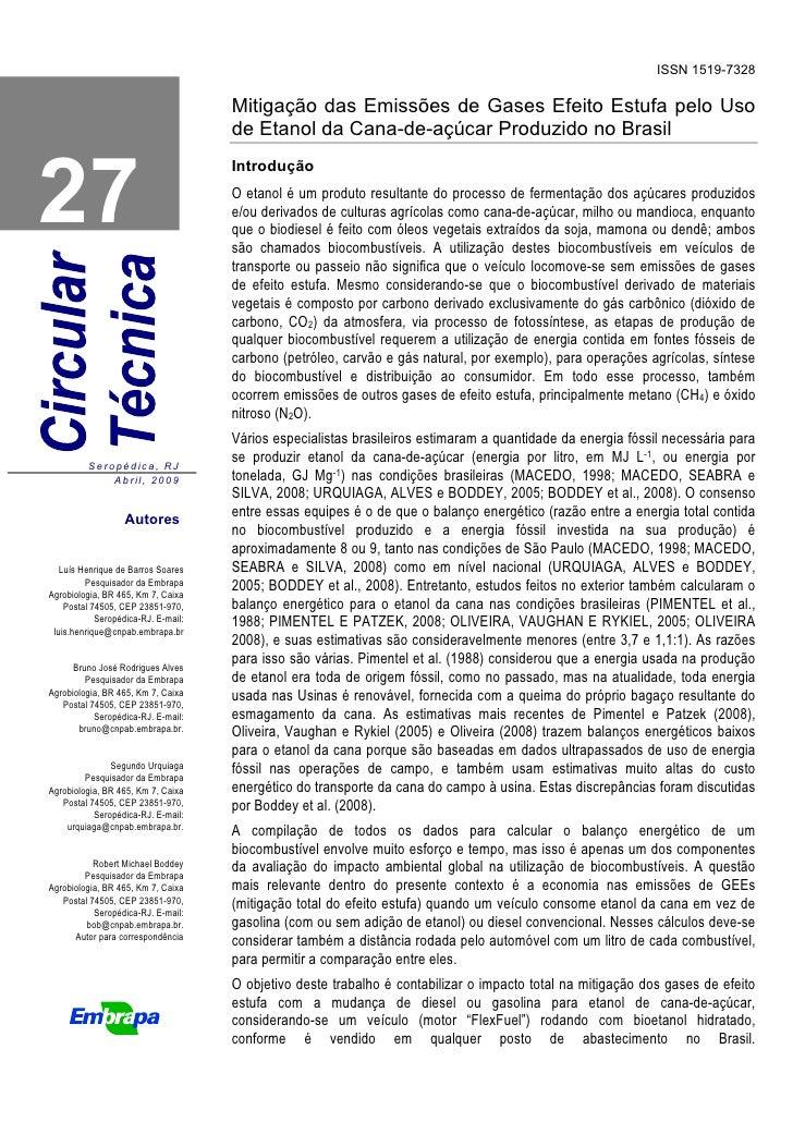 ISSN 1519-7328                                       Mitigação das Emissões de Gases Efeito Estufa pelo Uso               ...