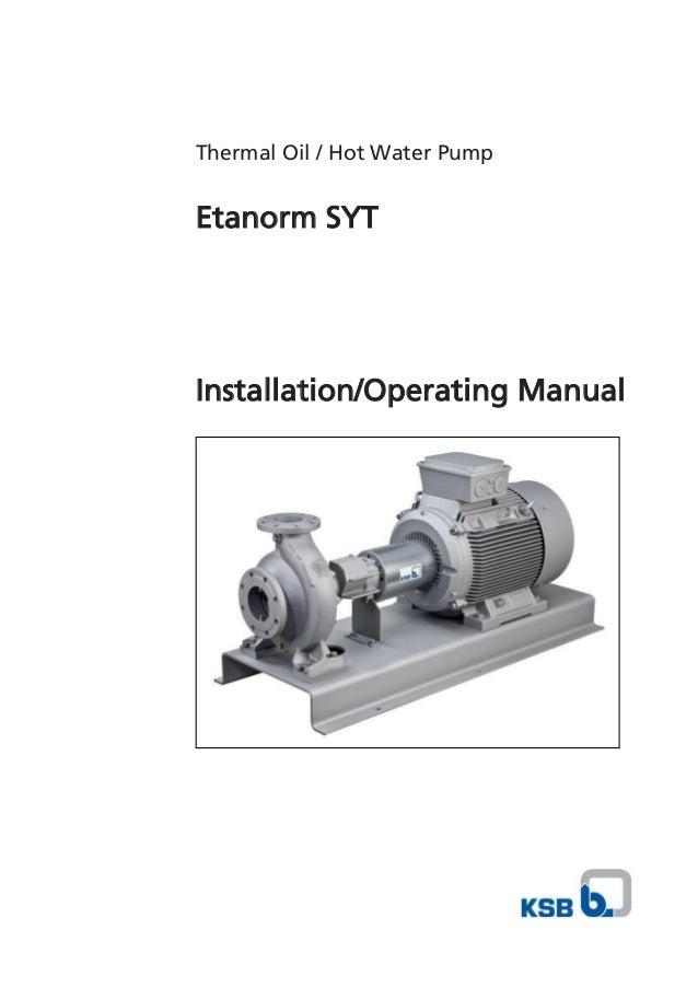 ksb manual feed pump