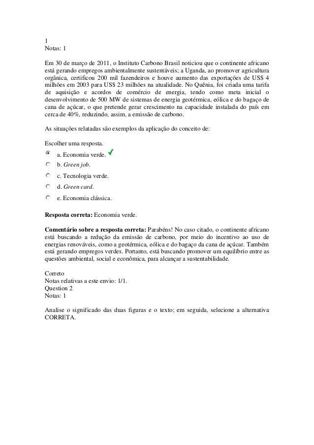 1 Notas: 1 Em 30 de março de 2011, o Instituto Carbono Brasil noticiou que o continente africano está gerando empregos amb...