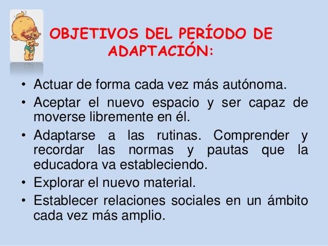 Etapa de adaptacion for Adaptacion jardin infantil
