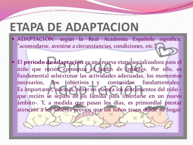 Etapa de adaptaci n ni os de 5 a 6 a os for Adaptacion jardin infantil