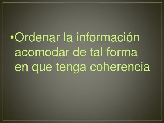 Comprender  Información