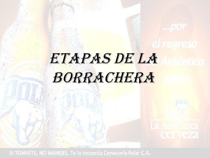 ETAPAS DE LA BORRACHERA