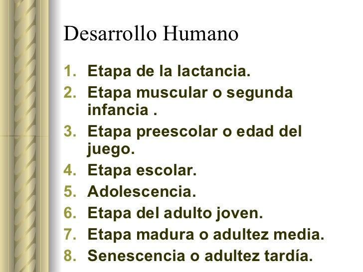 Etapas del Desarrollo Humano Slide 3