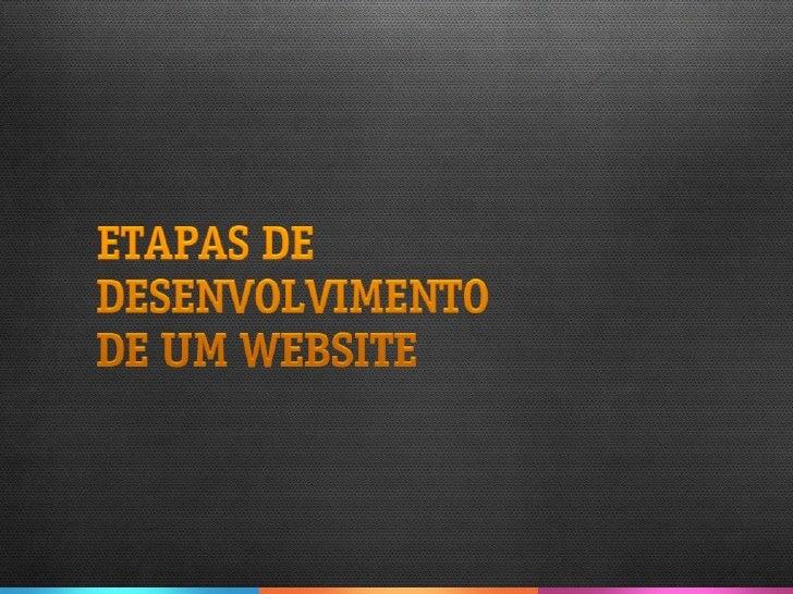 Etapas de desenvolvimento de um website