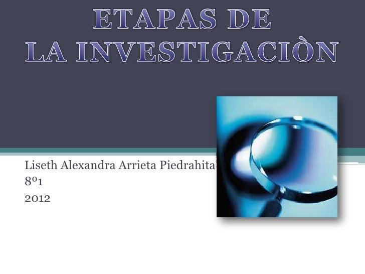 Liseth Alexandra Arrieta Piedrahita8º12012