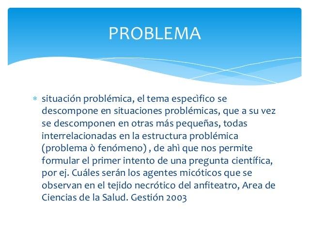  situación problémica, el tema especìfico sedescompone en situaciones problémicas, que a su vezse descomponen en otras má...