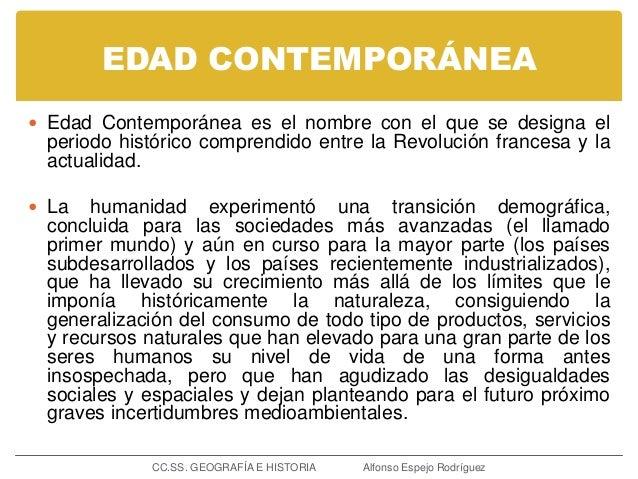 Definicion De Contemporanea Of Concepto Y Etapas De La Historia 4 Eso