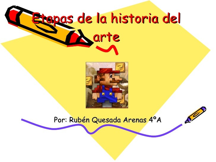 Etapas de la historia del arte Por: Rubén Quesada Arenas 4ºA