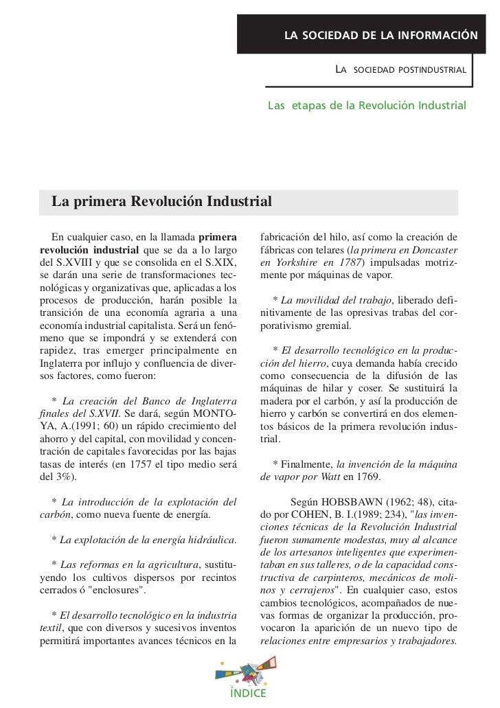 LA SOCIEDAD DE LA INFORMACIÓN                                                                  LA   SOCIEDAD POSTINDUSTRIA...