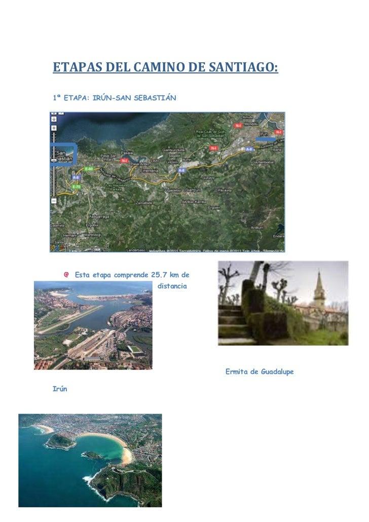 ETAPAS DEL CAMINO DE SANTIAGO:<br />1ª ETAPA: IRÚN-SAN SEBASTIÁN <br />-514354953000<br />-723900241935<br />-49339505080-...