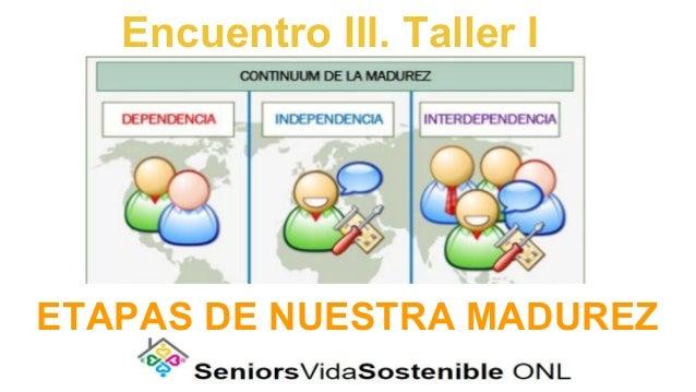 Encuentro III. Taller I ETAPAS DE NUESTRA MADUREZ