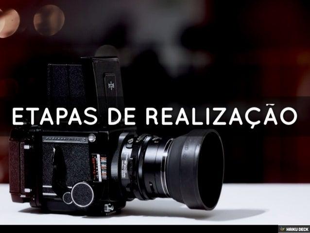 Etapas de Realização Audiovisual
