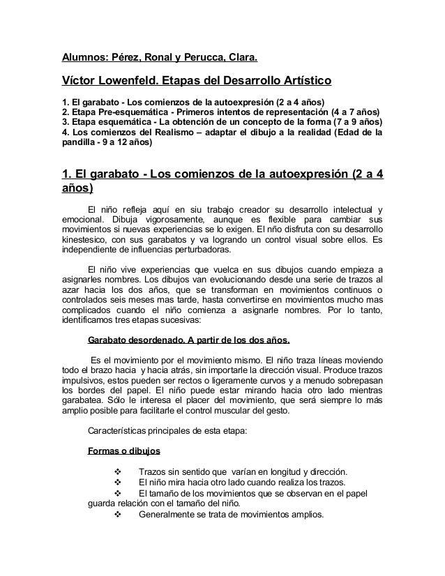 Víctor Lowenfeld. Etapas del Desarrollo Artístico