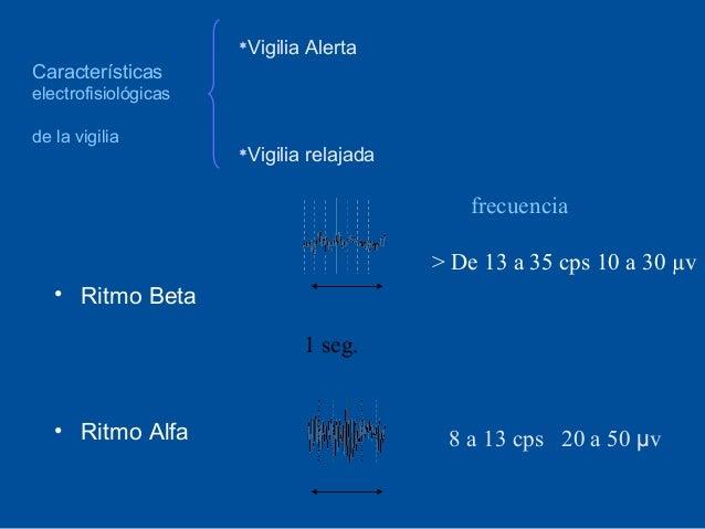Vigilia Alerta                      Característicaselectrofisiológicasde la vigilia                      Vigilia relajada...