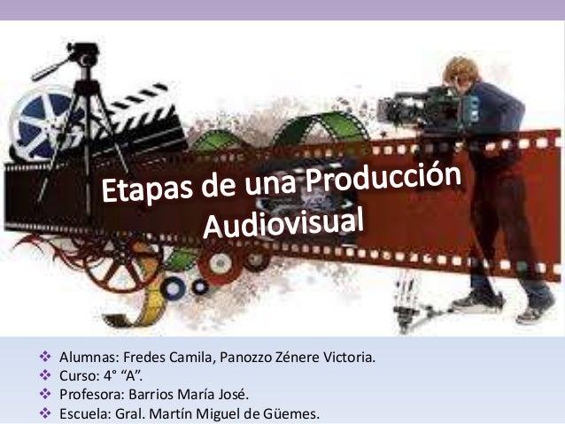 " Alumnas: Fredes Camila, Panozzo Zénere Victoria.  Curso: 4° ""A"".  Profesora: Barrios María José.  Escuela: Gral. Mart..."